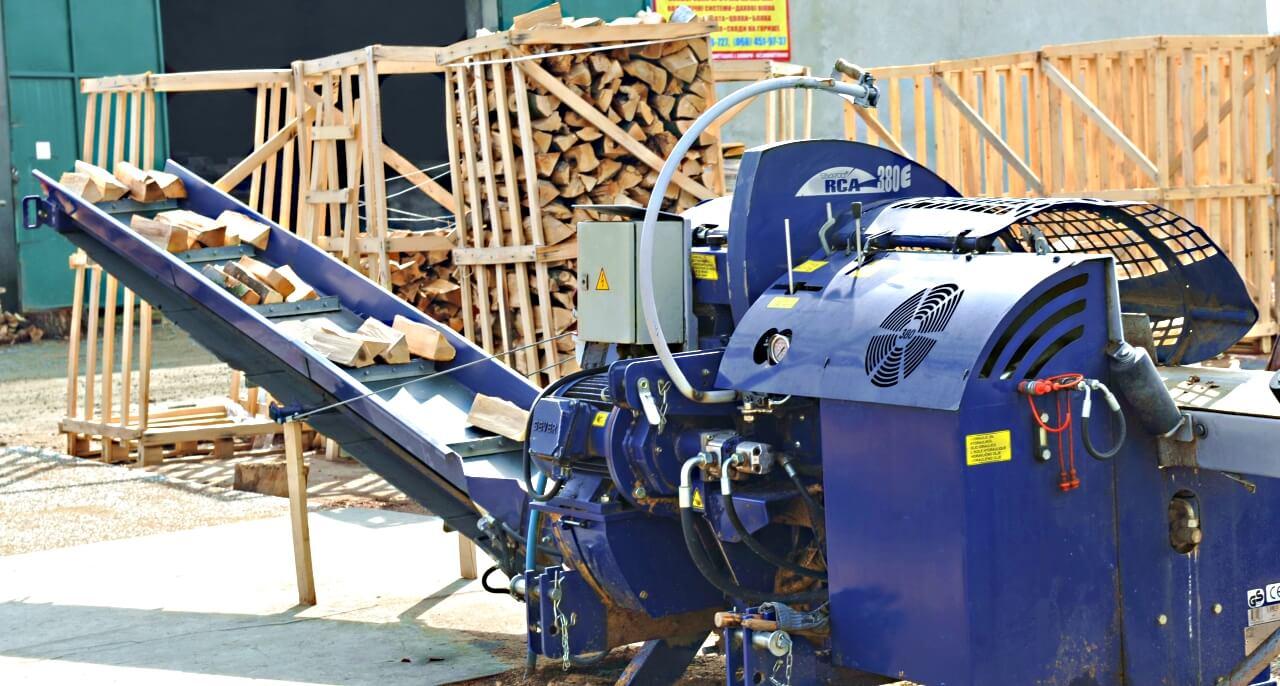 Виробництво колотих дров
